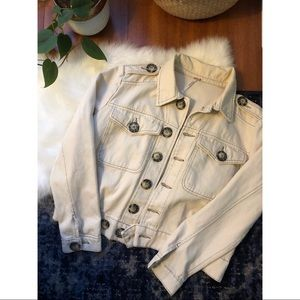 Free People Tan Denim Jacket